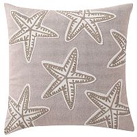 VCNY Home Embroidered Starfish Throw Pillow