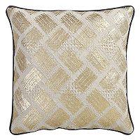 VCNY Samyra Gold Tone Foiled Throw Pillow