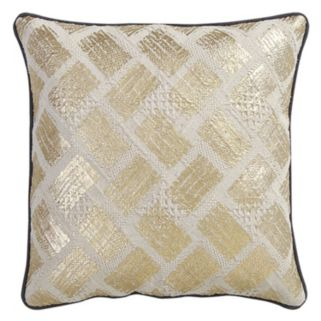 VCNY Samyra Gold Tone Foiled Throw Pillow