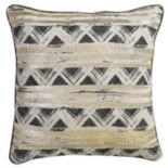 VCNY Tabina Gold Tone Foiled Throw Pillow