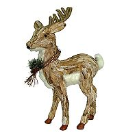 St. Nicholas Square® Faux-Fur Standing Deer Floor Decor