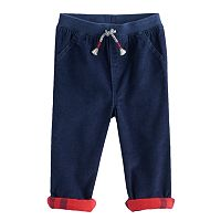 Toddler Boy Jumping Beans® Flannel Cuffed Corduroy Pants