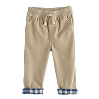Baby Boy Jumping Beans® Flannel Cuffed Corduroy Pants