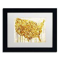 Trademark Fine Art American Dream IV Black Framed Wall Art