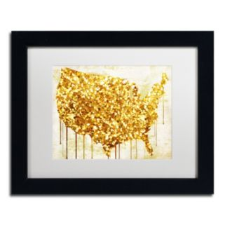 Trademark Fine Art American Dream IV Black Framed Wall Art