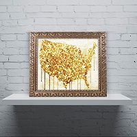 Trademark Fine Art American Dream IV Ornate Framed Wall Art