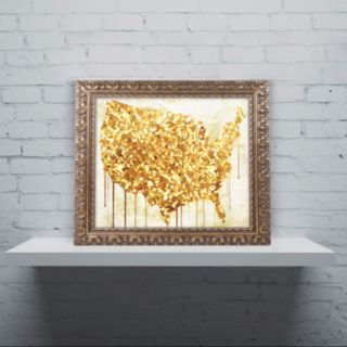 Trademark Fine Art American Dream IV Ornate Framed Wall Art