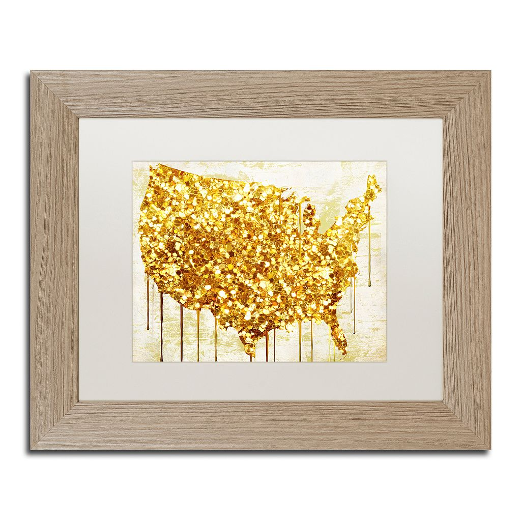 Trademark Fine Art American Dream IV Distressed Framed Wall Art