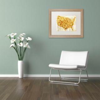Trademark Fine Art American Dream IV Distressed Framed Wall Art