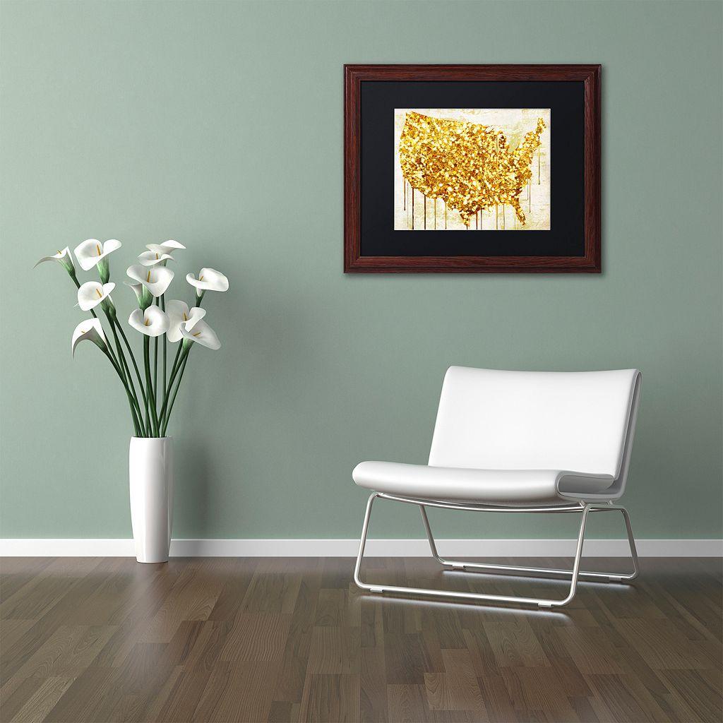 Trademark Fine Art American Dream IV Traditional Framed Wall Art
