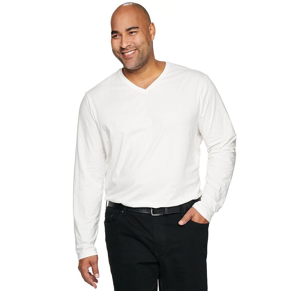 Big & Tall Apt. 9® Premier Flex Classic-Fit Stretch V-Neck Tee