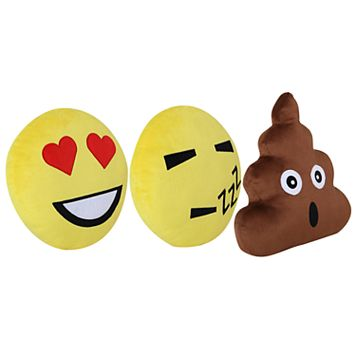 VCNY 3-piece Emoji I Throw Pillow Set