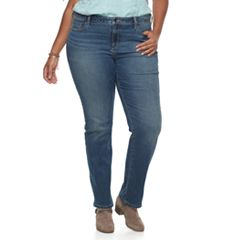 Plus Size SONOMA Goods for Life™ Slim Fit Straight-Leg Jeans