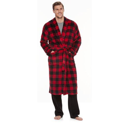 Big & Tall Croft & Barrow® Plush Robe