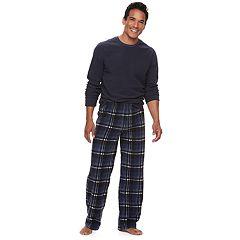 Men's Croft & Barrow® Solid Tee & Plaid Microfleece Lounge Pants Set