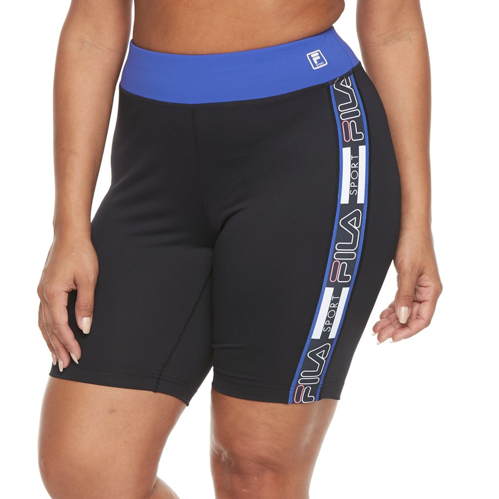 Plus Size FILA SPORT® Printed Fitted Bike Shorts