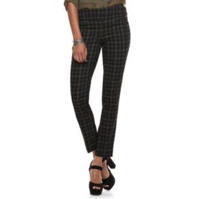 Juniors' Candie's® Plaid Skinny Dress Pants
