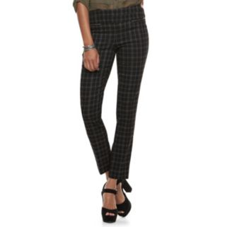 Juniors' Candie's® Plaid Skinny Dress Pants