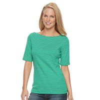 Women's Croft & Barrow® Striped Boatneck Knit Top