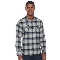 Men's Burnside Plaid Flannel Button-Down Shirt