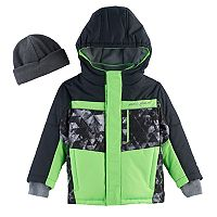 Toddler Boy ZeroXposur Abstract Heavyweight Jacket & Hat Set