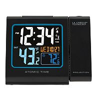 La Crosse Technology Projection Alarm Clock with Atomic Time & Indoor / Outdoor Temperature