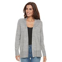 Women's Croft & Barrow® Heathered Open-Front Cardigan