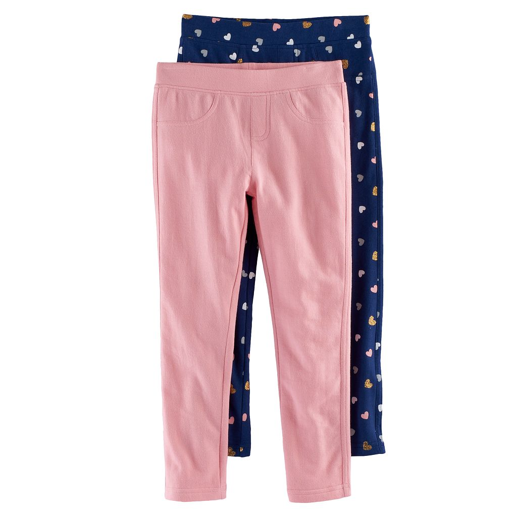 Toddler Girl Freestyle Revolution 2-pk. Heart & Solid Leggings