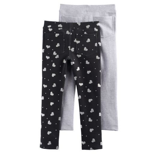 Toddler Girl Freestyle Revolution 2-pk. Hearts & Solid Jeggings Set
