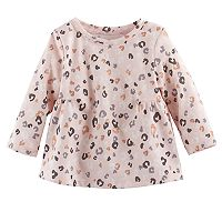 Baby Girl Jumping Beans® Print Shirred Top