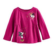Disney's Mickey Mouse & Minnie Mouse Baby Girl Shirred Graphic Tee By Jumping Beans®
