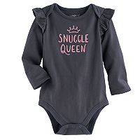 Baby Girl Jumping Beans® Ruffled Graphic Bodysuit