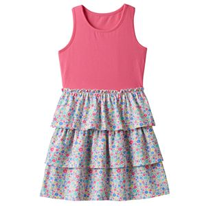 Baby Girl Jumping Beans® Patterned Tiered Skirt Dress