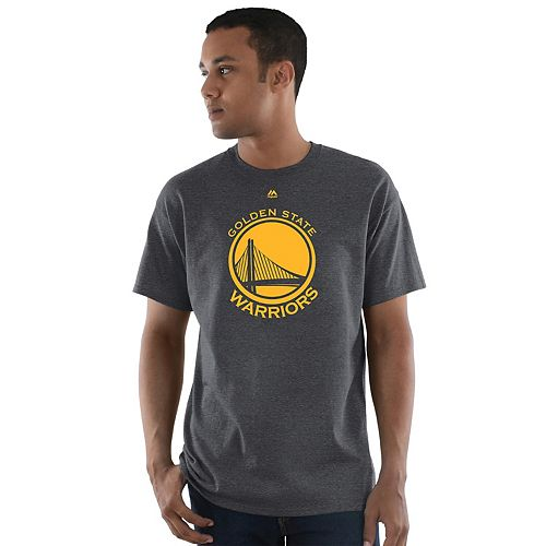 Big & Tall Majestic Golden State Warriors Heather Tee