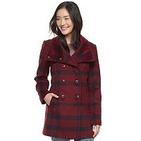 Juniors' IZ Byer Plaid Faux-Wool Jacket