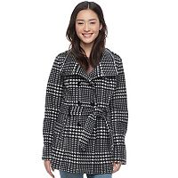 Juniors' IZ Byer Micro Fleece Houdstooth Jacket