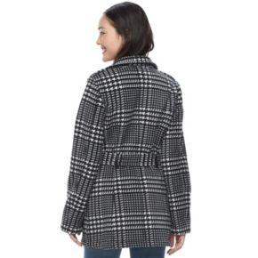 Juniors' IZ Byer Micro Fleece Houdstooth Jacket