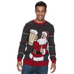 Men's Santa Beer Ugly Christmas Sweater