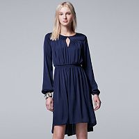 Women's Simply Vera Vera Wang Smocked Peasant Dress