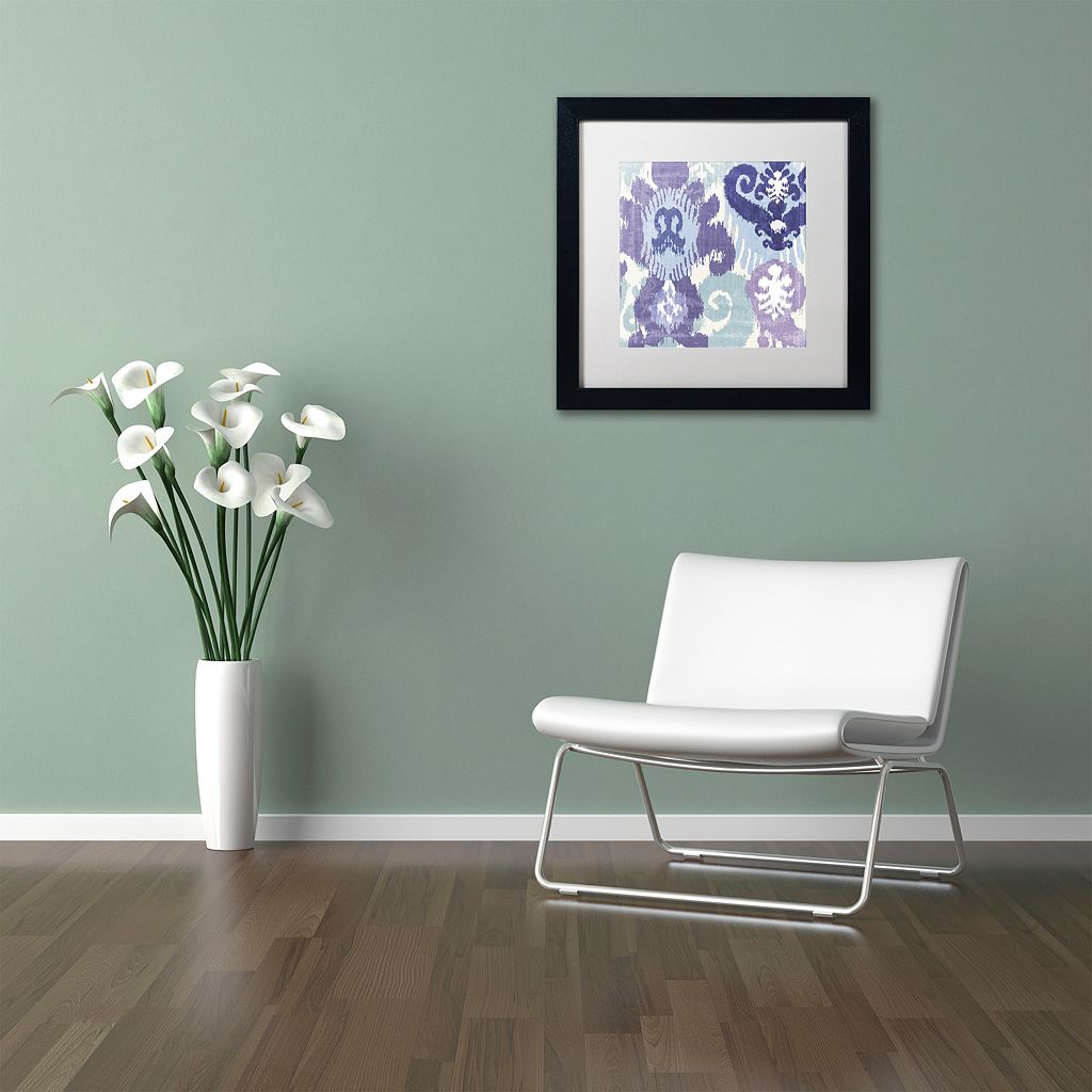 Trademark Fine Art Blue Curry I Black Framed Wall Art