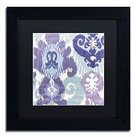 Trademark Fine Art Blue Curry I Black Framed Wall Art