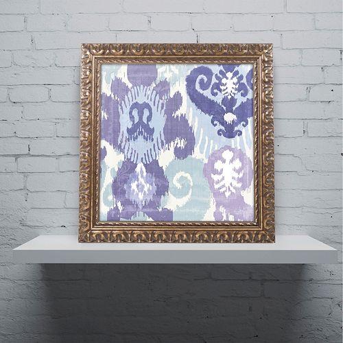 Trademark Fine Art Blue Curry I Ornate Framed Wall Art