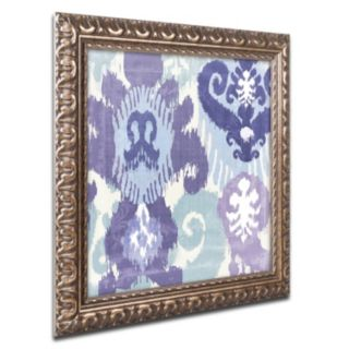 Trademark Fine Art Blue Curry I Ornate Framed Wall Art