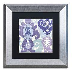 Trademark Fine Art Blue Curry I Framed Wall Art