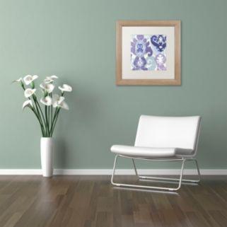 Trademark Fine Art Blue Curry I Distressed Framed Wall Art