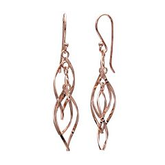 PRIMROSE Sterling Silver Corkscrew Drop Earrings