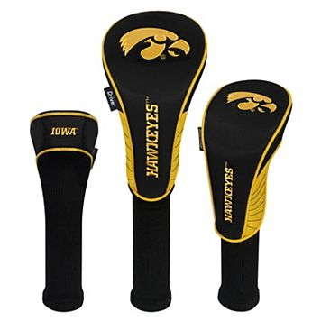 Team Effort Iowa Hawkeyes 3-Piece Club Head Cover Set