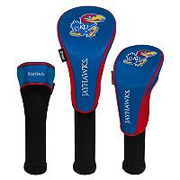 Team Effort Kansas Jayhawks 3-Piece Club Head Cover Set