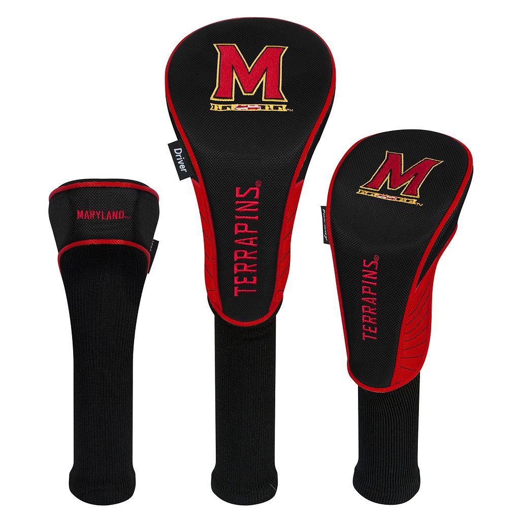 Team Effort Maryland Terrapins 3-Piece Club Head Cover Set