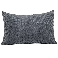 Chain Link Chenille Oblong Throw Pillow